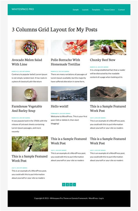 layout for my blog created 3 columns grid layout for blog page in 5 mins