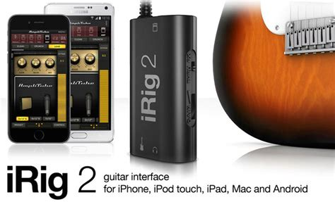 ik s new irig 2 guitar instrument audio interface for ios mac android is now available 9to5toys