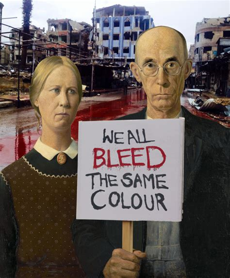 we all bleed the same color grant wood we all bleed the same colour by