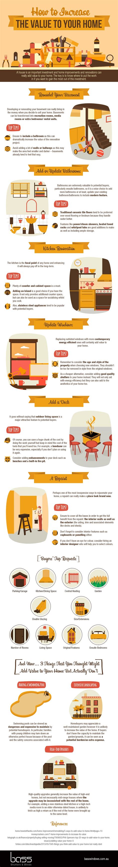 how to increase the value to your home infographic