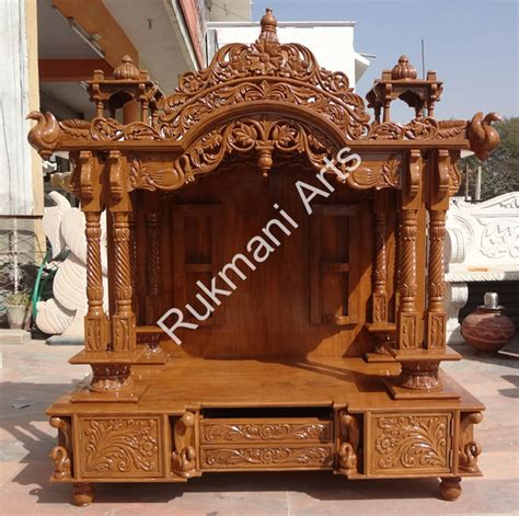 code 53 wooden carved teakwood temple mandir furniture