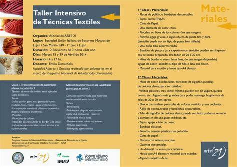 taller creativo alejandra tecnicas taller intensivo de t 233 cnicas textiles parquesymuseos