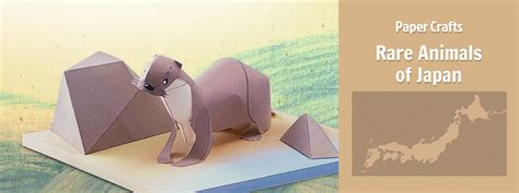Origami Weasel - japanese river otter paper crafts origami yamaha
