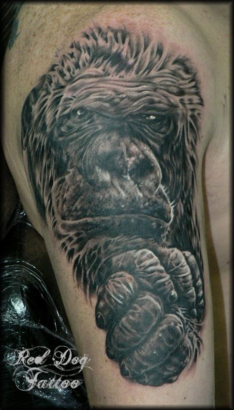 tribal gorilla tattoo gorilla tribal