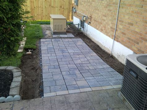 paver patio edging options backyard upgrades 09