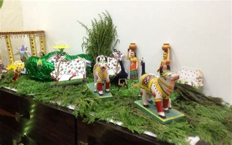 Home Decoration For Janmashtami by Recreate Vrindavan Through Your Janmashtami Decor Add Statues Of Cows Peacock And