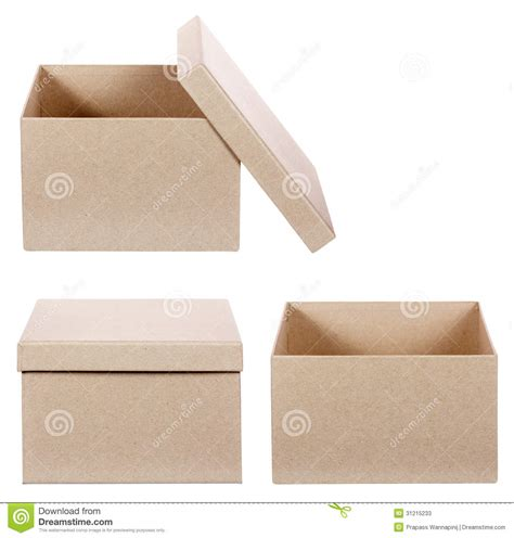 square cardboard box stock images image 29889354 square brown solid cardboard box isolated stock photos