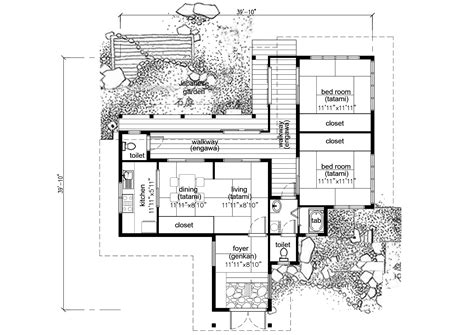 asian house designs and floor plans traditional japanese house plan