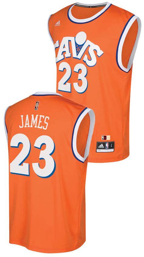 Youth Lebron James Cleveland Cavaliers Orange Adidas