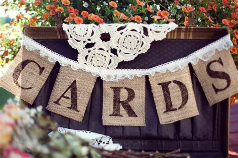 Wedding Banner Burlap by Burlap Banner Cards Banner Wedding Banners Rustic