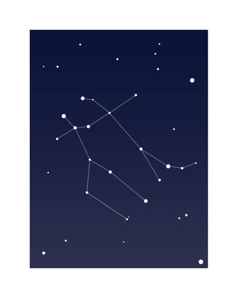 gemini constellation horoscope print art print tattoos
