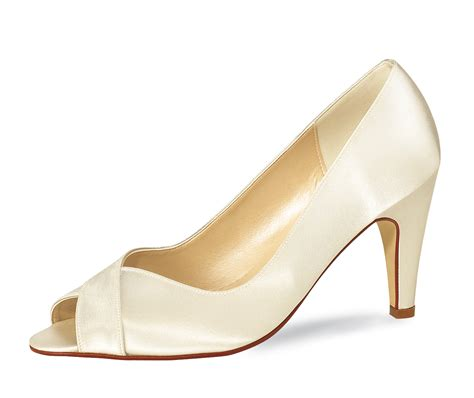 brautschuhe peeptoes ivory peeptoe ivory satin rainbow club by elsa coloured