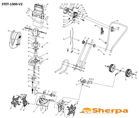 mantis tiller parts diagram spare parts for sherpa tillers