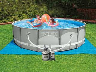 kit piscine hors sol tubulaire intex ultra frame ronde