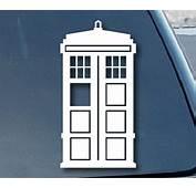 Doctor Who Tardis Car Window Vinyl Decal Sticker 5 Tall