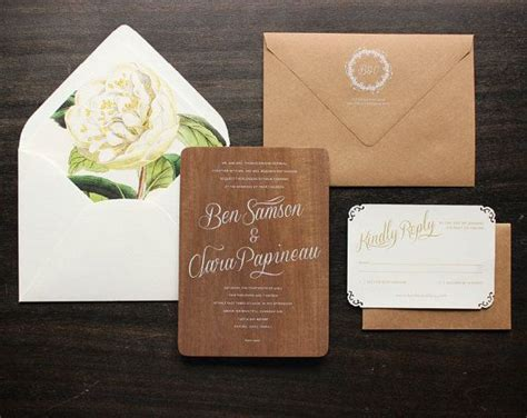 Wedding Invitations With Woods Themes by Real Wood Wedding Invitations Oxsvitation