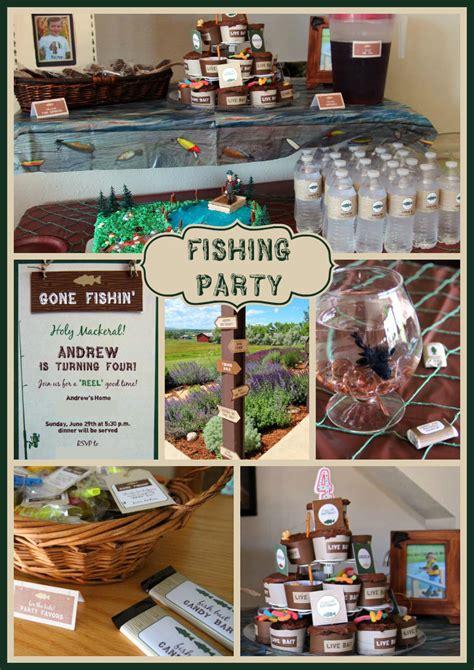 fishing themed decorations fishin andrew s 4th fishing birthday