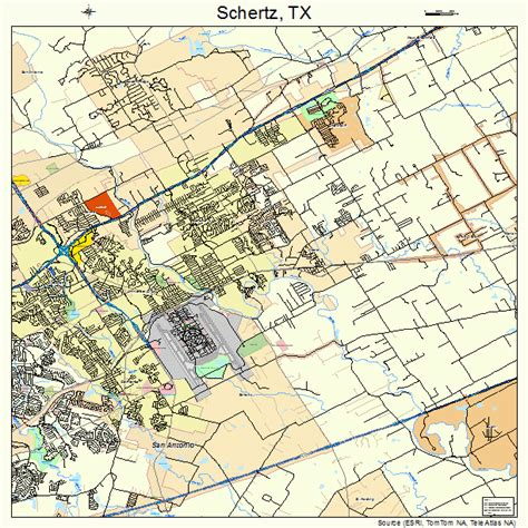 schertz texas map schertz texas map 4866128