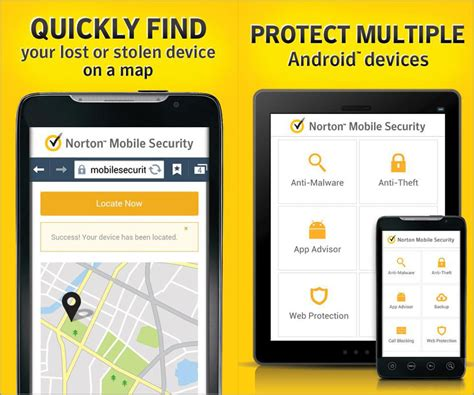 norton for android free 1 year norton mobile security antivirus protection for android and ios