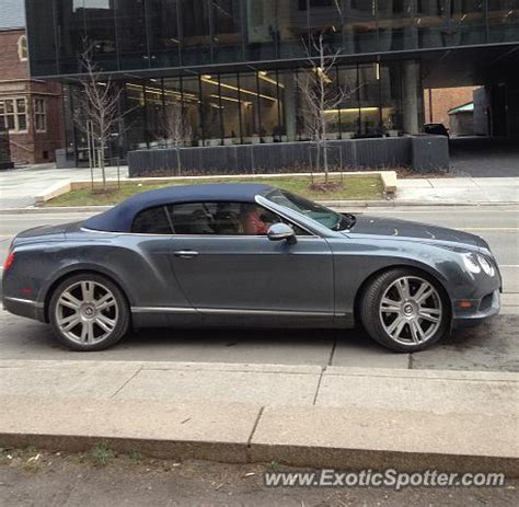 bentley canada bentley continental spotted in toronto canada on 04 03 2013