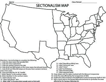 sectionalism before the civil war civil war sectionalism map by coaching history