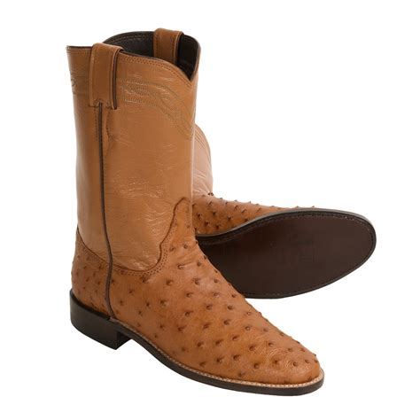 ostrich boots justin boots quill ostrich cowboy boots for