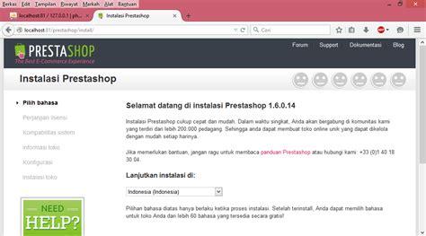 tutorial membuat online shop dengan prestashop tutorial cara install prestashop di localhost dengan xampp
