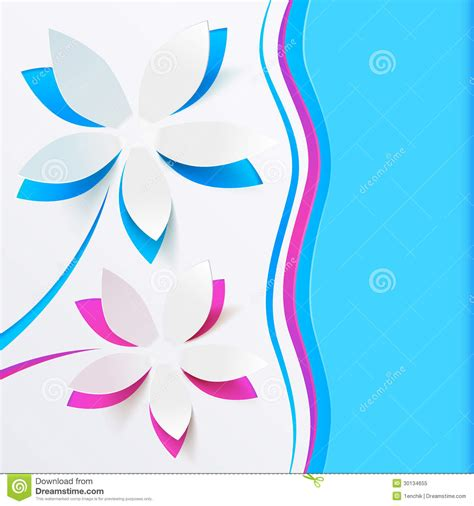 greeting card folder template paper flower vector greeting card template royalty free