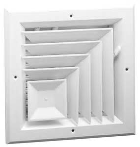 a505 aluminum 2 way corner ceiling diffuser ms or obd