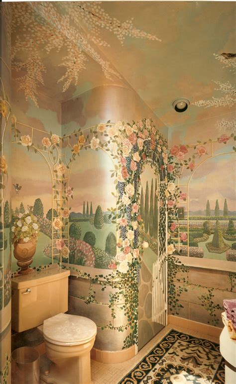 painted murals for rooms bonnie siracusa murals gallery bathrooms