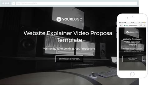 website templates for video production company free video production proposal template better proposals