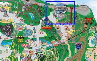 us map of six flags review justice league at six flags great america coaster101
