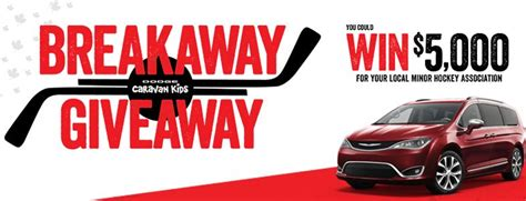 Local Contests And Giveaways - dodge s breakaway giveaway contest win a 2017 chrysler pacifica and 5 000 for your