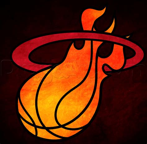 how to draw the heat logo how to draw miami heat step by step sports pop culture