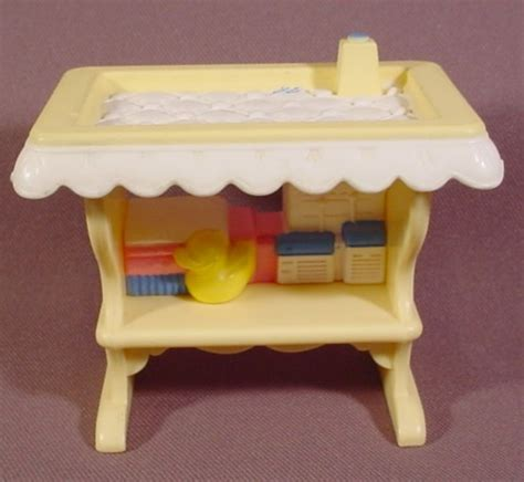Fisher Price Changing Table Fisher Price Loving Family Dollhouse Changing Table White Simulated Padded Top Rons Rescued
