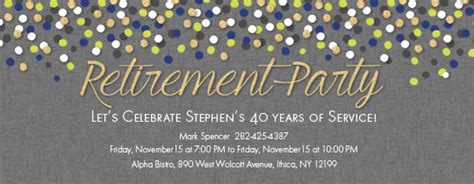 Free Retirement And Farewell Party Invitations Evite Com Retirement Flyer Template Powerpoint