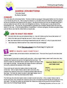 The Lotus Seed Activities The Lotus Seed Lesson Plans Activities Package Ccss