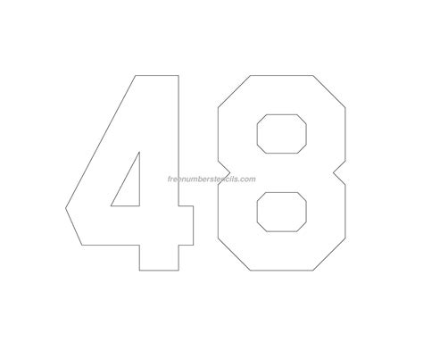 printable jersey numbers free jersey printable 48 number stencil
