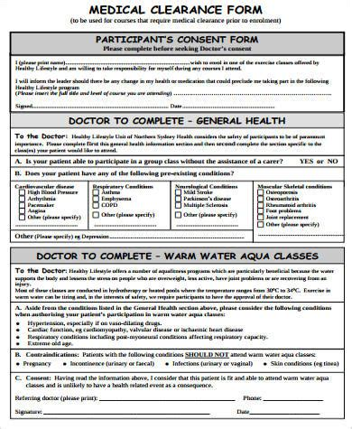 clearance form template 10 sle clearance forms sle templates