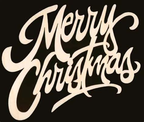 merry christmas word natural craft wood cutout 1567