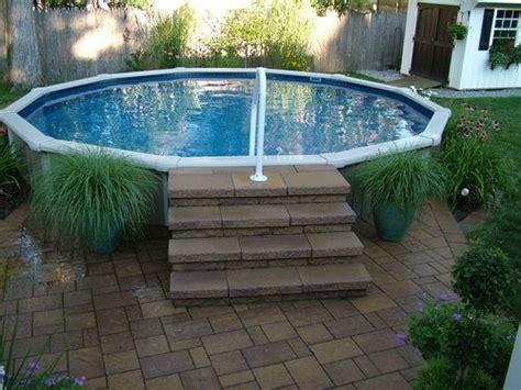 Patio Pavers Around Above Ground Pool Pool Area Put Pavers Around The Pool To Dress It Up