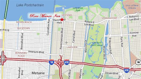 map new orleans jazz manor bed breakfast inn new orleans directions