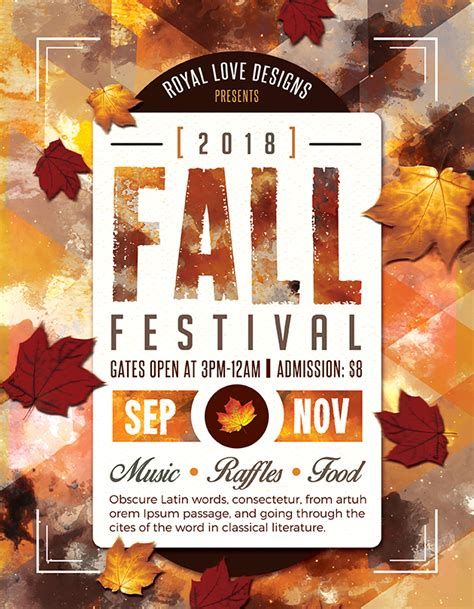 fall flyer template doc 500735 fall flyer the best free autumn
