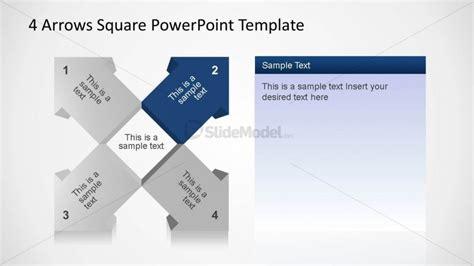 4 Arrows Square Diagram Second Arrow Slidemodel Squares Powerpoint Template 2