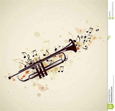 imagenes de trompetas musicales trompeta y notas abstractas ilustraci 243 n del vector