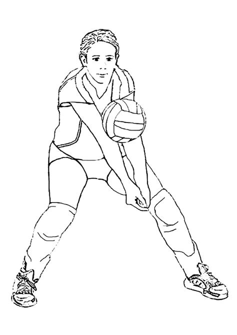 coloring pages volleyball girl wisconsin volleyball girl player coloring page sports