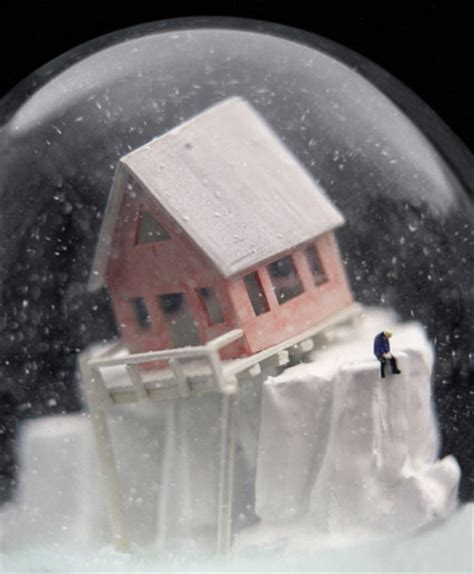eerie photos of snow blanketing the interior of an stunning creep snow globes to inspire you