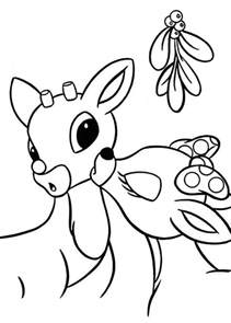clarice kiss rudolph the red nosed reindeer coloring page