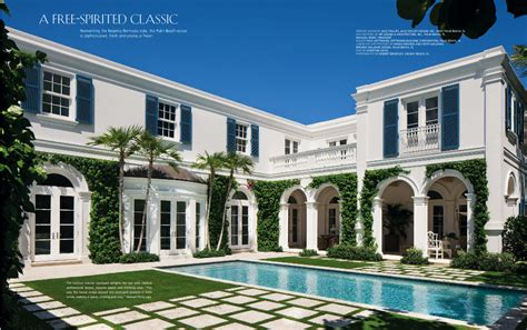 Palm Beach House | the glam pad a blue and white regency bermuda in palm beach