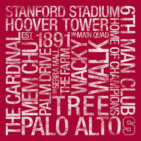 stanford colors stanford college colors subway photograph by replay photos